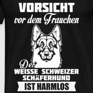 Witte Zwitserse herder - Let op Sweaters - Mannen Premium T-shirt