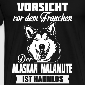 Alaskan malamute - caution Tops - Men's Premium T-Shirt