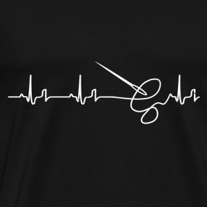 Heartbeat - sewing Hoodies & Sweatshirts - Men's Premium T-Shirt