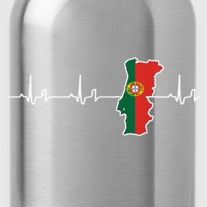 Heartbeat - Portugal Camisetas - Cantimplora