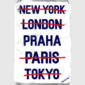 NY London Praha..., Francisco Evans ™ T-shirts - Vattenflaska