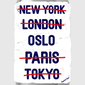 NY London Oslo..., Francisco Evans ™ T-shirts - Vattenflaska