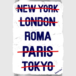 NY London Roma..., Francisco Evans ™ T-shirts - Vattenflaska