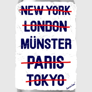 NY London Münster..., Francisco Evans ™ T-shirts - Vattenflaska