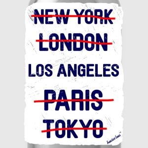 NY London Los Angeles..., Francisco Evans ™ T-shirts - Vattenflaska