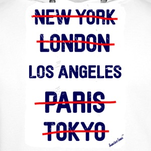 NY London Los Angeles..., Francisco Evans ™ T-skjorter - Premium hettegenser for menn