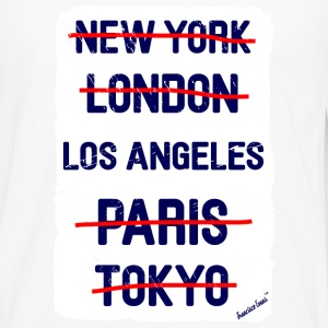 NY London Los Angeles..., Francisco Evans ™ T-skjorter - Premium langermet T-skjorte for menn