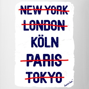 NY London Köln..., Francisco Evans ™ T-shirts - Mugg