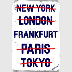 NY London Frankfurt..., Francisco Evans ™ T-shirts - Drinkfles