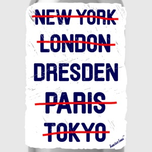 NY London Dresden..., Francisco Evans ™ T-shirts - Vattenflaska