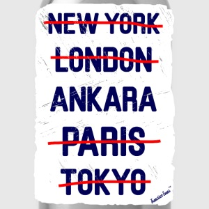 NY London Ankara..., Francisco Evans ™ T-shirts - Vattenflaska