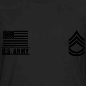 Sergeant First Class SFC US Army, Mision Militar ™ T-shirts - Herre premium T-shirt med lange ærmer