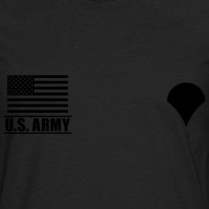Specialist SPC US Army, Mision Militar ™ T-shirts - Herre premium T-shirt med lange ærmer