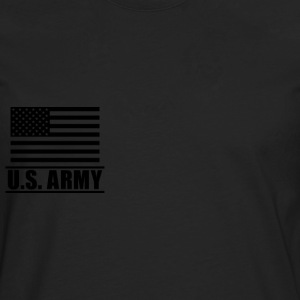 Private PV1 US Army, Mision Militar ™ T-shirts - Herre premium T-shirt med lange ærmer