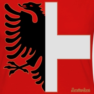 Albania Switzerland Coat of Arms, Francisco Evans T-Shirts - Women's Premium Longsleeve Shirt