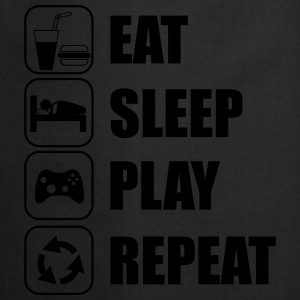 Eat,sleep,play,repeat Gamer Gaming Geek Nerd - Keukenschort