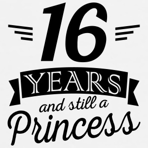 16 years and still a princess Mokken & toebehoor - Mannen Premium T-shirt