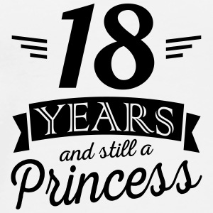 18 years and still a princess Bouteilles et Tasses - T-shirt Premium Homme