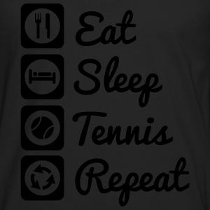eat,sleep,tennis,repeat - Tennis t-shirt - Men's Premium Longsleeve Shirt