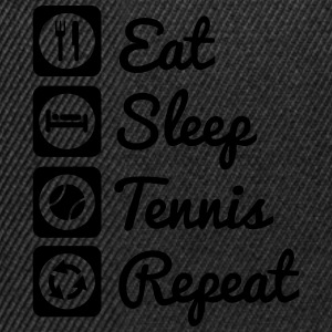 eat,sleep,tennis,repeat - Tennis t-shirt - Snapback Cap