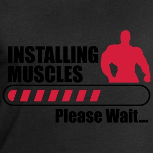 Installing Muscles (Loading) Funny gym Crossfit T- - Men's Sweatshirt by Stanley & Stella