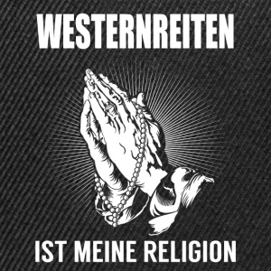Équitation Western - ma religion Manches longues - Casquette snapback