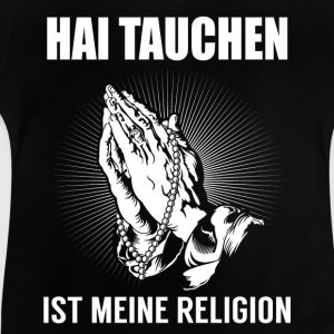 Shark dykning - min religion T-shirts - Baby-T-shirt