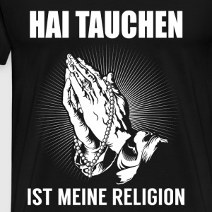 Shark diving - ma religion Manches longues - T-shirt Premium Homme