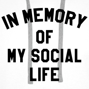 In memory of social life Tee shirts - Sweat-shirt à capuche Premium pour hommes