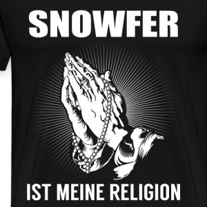 Snowfer - ma religion Manches longues - T-shirt Premium Homme