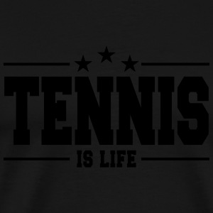 tennis is life 1 Sweatshirts - Herre premium T-shirt