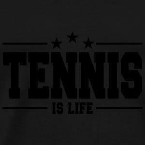 tennis is life 1 Baby Bodysuits - Men's Premium T-Shirt