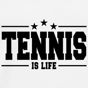 tennis is life 1 Mugs & Drinkware - Men's Premium T-Shirt