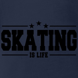 skating is life 1 Shirts - Baby bio-rompertje met korte mouwen