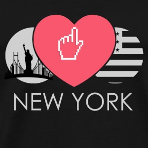 IN LOVE  WITH NEW YORK - Männer Premium T-Shirt