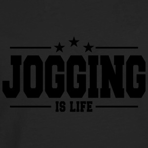 jogging is life 1 Sweat-shirts - T-shirt manches longues Premium Homme