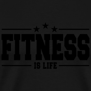 fitness is life 1 Tröjor - Premium-T-shirt herr