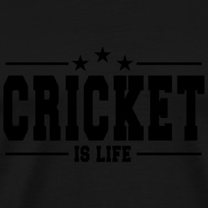 cricket is life 1 Manches longues - T-shirt Premium Homme