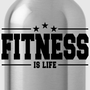 fitness is life 1 Sudaderas - Cantimplora