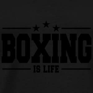 boxing is life 1 Toppe - Herre premium T-shirt