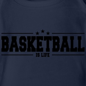 basketball is life 1 Tee shirts - Body bébé bio manches courtes