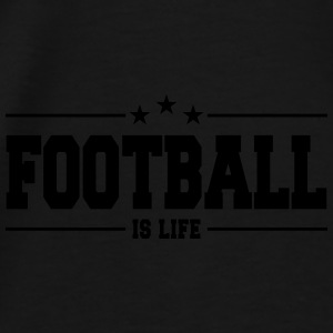 football is life 1 Caps & Hats - Men's Premium T-Shirt