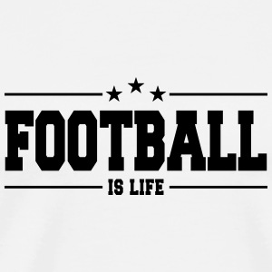 football is life 1 Tazze & Accessori - Maglietta Premium da uomo