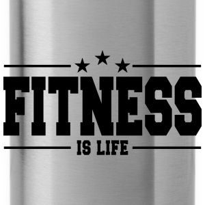 fitness is life 1 Caps & Hats - Water Bottle