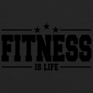 fitness is life 1 Caps & Hats - Men's Premium Longsleeve Shirt
