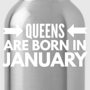 Queens are born in January Long Sleeve Shirts - Water Bottle
