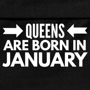 Queens are born in January T-shirts - Rygsæk til børn