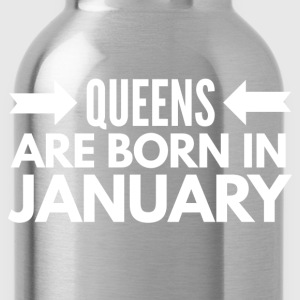 Queens are born in January T-shirts - Vattenflaska