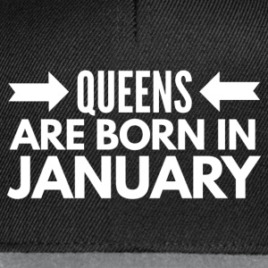 Queens are born in January T-shirts - Snapback Cap