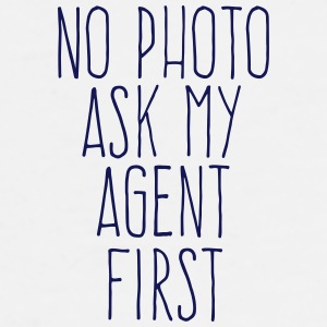 no photo ask my agent Mobil- & surfplattefodral - Premium-T-shirt herr